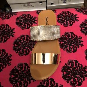 Rose Gold Bling Sandals